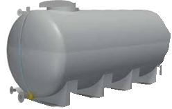 Depósitos cisterna con base de apoyo